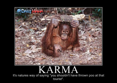 Karma - it's natures way of saying...